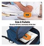 MoKo Digital Alarm Clock, Wecker Nachttischuhr Mini Clock LCD Display Batteriebetriebend mit Schlummer Funktion/Hintergrundbeleuchtung für Schlafzimmer/Büro/Schreibtisch, Orange Test