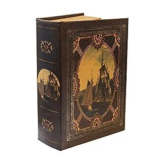 zeitzone Hohles Buch mit Geheimfach Buchversteck Segelschiff Antik-Stil 21cm