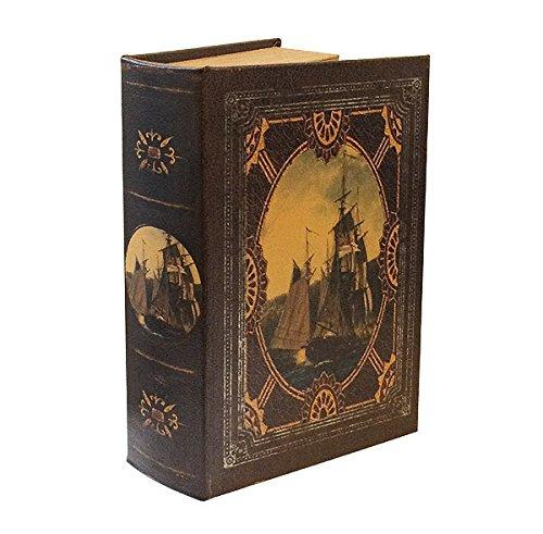 Hohles Buch mit Geheimfach Buchversteck Segelschiff Antik-Stil 21cm