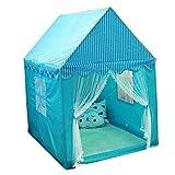 Kinderzelt Spielzelte Indoor-Kinderspielhäuser Ausflüge Jungen- und Mädchenklappzelte Spielzelte im Freien (Color : Blue)