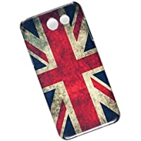 Slim Case for Samsung Galaxy J3 (2017 USA Version - J327), Emerge, Eclipse, Prime. Tasche Cover. Union Jack. Flag of the United Kingdom. UK Flag.