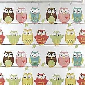 owl duschvorhang k che haushalt. Black Bedroom Furniture Sets. Home Design Ideas