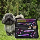 Die besten Hund Ausdünnung Schere - Hifuture Haustiere Schere Set,7-Zoll-Bunte Haustier Schere Set Haustier Bewertungen