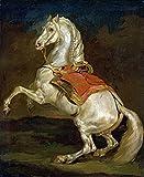 Fine Art Print–aufbäumendes Pferd–Cheval Cabre von Bentley Global Arts Gruppe, Papier, multi, 13 x 16
