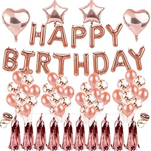 TOPWINRR Luftballons Milchsaft Konfetti für Geburtstag Party Feiertag Dekorationen Rose Gold (Packung mit 46 Stück)