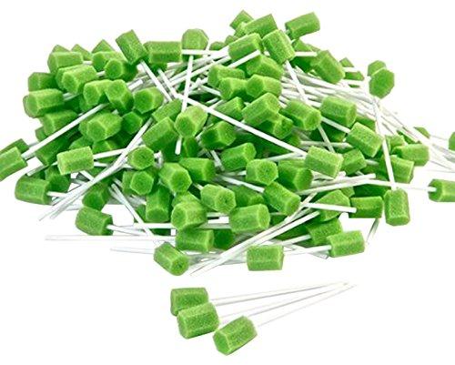 Amzhealth verde schiuma orale/tampone di pulizia per bocca–Confezione da 250