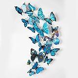 iDream 12pcs 3D PVC Magnet Butterflies D...