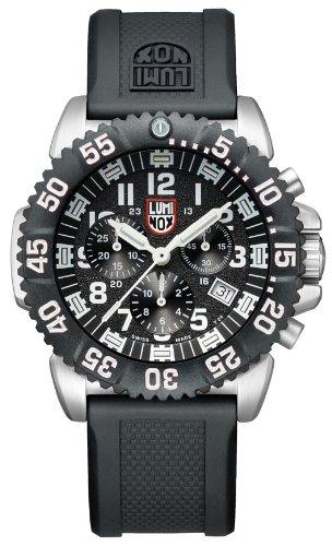 Luminox Women's 43mm Black Polyurethane Band Steel Case Swiss Quartz Chronograph Watch 3181