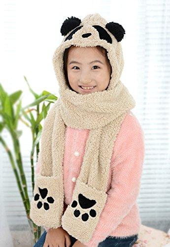 Preisvergleich Produktbild MAI Korea Herbst und Winter Kinder Dreiteilige Kapuze Dicke Warme und Schöne Biber Hut Handschuhe Einen Schal,C