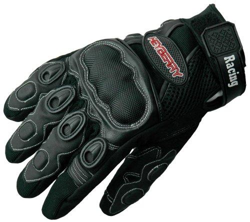 Heyberry Sommer Motorradhandschuhe Textil Leder Motorrad Handschuhe Gr. M