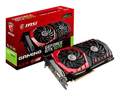 MSI VGA GTX1070 Gaming Scheda Grafica da 8 GB, Nero