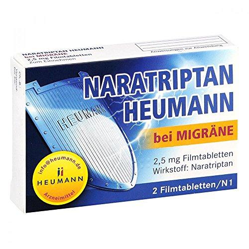 Naratriptan Heumann bei Migräne, 2 St. Filmtabletten