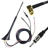 DAB+ FM/AM Antenne Antennenfuss Dachantenne mit Antennenverstärker 5M Antennenkabel DIN SMB Stecker Adapter für DAB Radio Autoradio