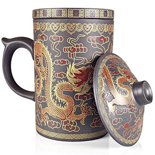 25dol Yixing lila Ton Teekanne Sets und Tassen,-100% Yixing lila Ton Mug Dragon