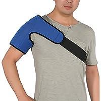 Schulterklammer für Männer und Frauen mit heißem Pack - Unterstützung der Rotatorenmanschettenpackung, Sehnenentzündung, Luxation, Bursitis, Schulterkompressionshülse aus Neopren, blau
