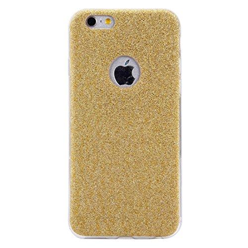 YAN Für iPhone 6 / 6s, Glitter Powder Soft TPU Schutzhülle ( Color : Rose gold ) Gold