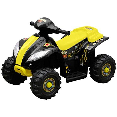 vidaXL Quad de Batería Eléctrica para Niños Amarillo y Negro Moto Correpasillo