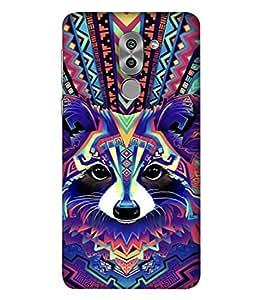 FUSON Designer Back Case Cover for Huawei Honor 6X (Dog Cat Kitten Whisker Puppy Triangle Rectangle)