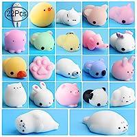 Outee Mini Squishys, 22 Pcs Squishys Toys Mochi Squishys Stress Relief Soft Squishys Toys Squishys Squeeze Random Squishys