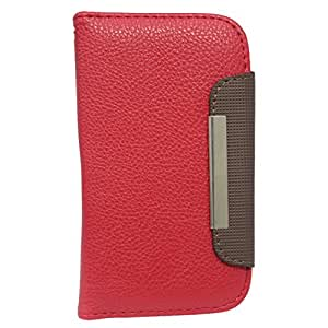 Jo Jo Z Series Magnetic High Quality Universal Phone Flip Case Cover Stand For Alcatel One Touch Idol Red Dark Brown