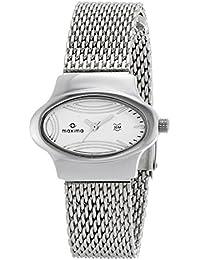 Maxima Attivo Analog Silver Dial Women's Watch - 26441CMLI
