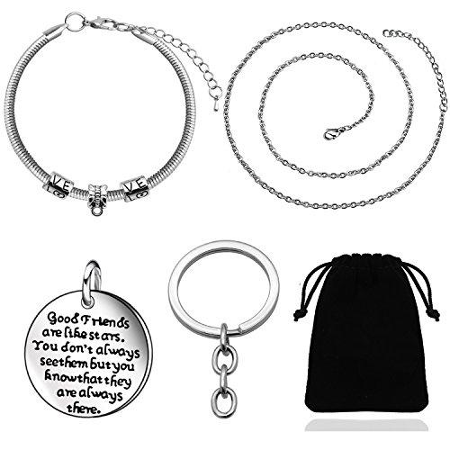 Braccialetti argentati per compleanni o lauree di amiche, regalo ideale per donne e ragazze