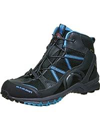 Mammut Nova Mid GTX® Kids (Backpacking/Hiking Footwear (Mid)), color:graphite-atlantic;size:33