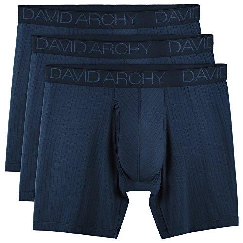 David Archy Herren 3er-pack ultra soft breathable unterwäsche micro modal boxer briefs mit fly x-Groß marine-blau-new-tropfen nadel- modal