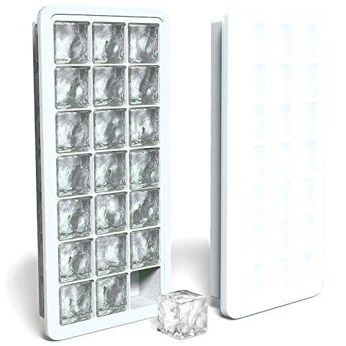 MAIGG Ice Cube Tablett mit wasserdicht Deckel - PREMIUM Silikon mold- BPA-frei/FDA genehmigt Ice Cube, Seife, Muffin, Pudding, Babynahrung Gefrierschrank Speicherung und mehr - stapelbar, kein überschwappen, platzsparend - Multifunktionale Küche Gadgets(Weiß). (Oberen Deckel)