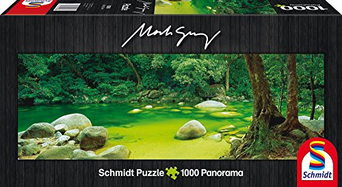 Schmidt Spiele 59286 - Mark Gray, Panoramapuzzle, Mossman Gorge, Queensland, Australia - Media-wand-lagerung