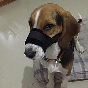 Muselière souple Ubest pour chien pour éviter morsures et mordillage – couleur au choix – taille S/M/L/XL/XXL