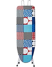 """Parasnath Heavy Folding Large Ironing Board Table 18"""" X 48"""" (Colour May Vary, Multi-Color) Lifetime Warranty Made in India"""