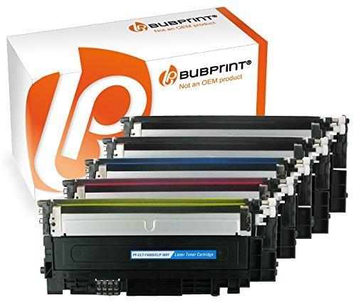 Preisvergleich Produktbild Bubprint 5 Toner kompatibel für Samsung CLP365 CLP360 black cyan magenta yellow