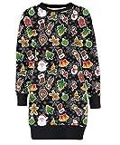 Mymixtrendz. Damen Damen Weihnachten Rentier Wand Ho Ho Santa Schneemann Weihnachten Pullover Kleid Sweatshirt (SM (EU 36-38), Gingerbread Tree Stick Black)
