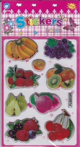 3D Fruits Decal autocollant de décalque 1 DiHommes DiHommes DiHommes sions de la feuille: 16 cm x 8 cm B00IL2HZ5M   Que Nos Produits Vont Dans Le Monde  000d54