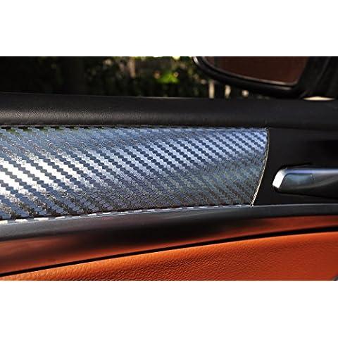 12 pz. Film in 3D rivestimenti interni in carbonio cromati SET spessore di 100 micron, pannelli delle portiere, consolle centrale, posacenere adatto per il vostro veicolo