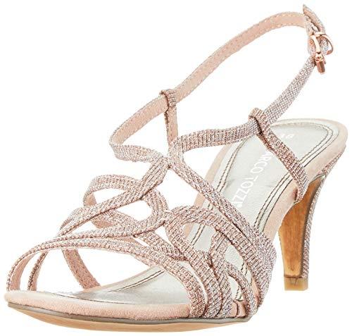 MARCO TOZZI 2-2-28328-22, Sandali con Cinturino alla Caviglia Donna, Rosa (Rose Metallic 592), 38 EU