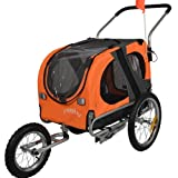 Doggyhut Medium Pet Dog Bicycle Trailer & Jogging Stroller in Orange 10201-03