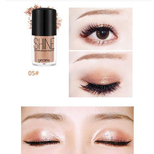 Eyeshadow Palette,Poudre multifonctionnelle de lumière de sirène Ji de paillettes d'ombre à paupières multifonctionnelle,Naturel Longue Durée Cosmétique (E)