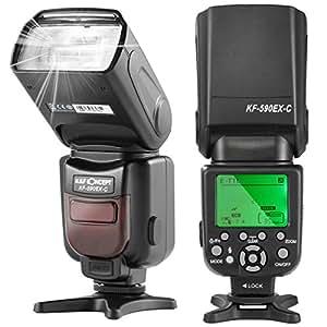 K&F Concept KF590C Flash Pour Appareil Photo Canon Flash Appareil Photo GN56,E-TTL Esclave