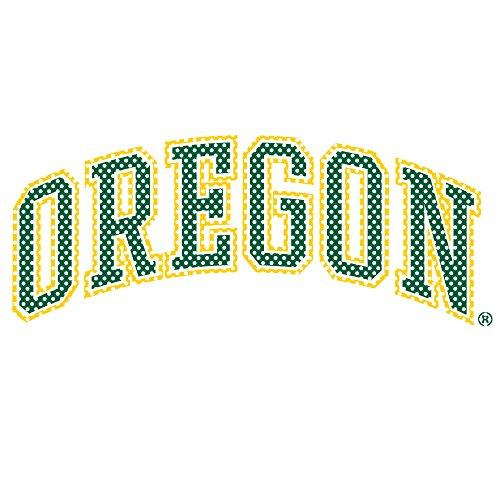 NCAA Oregon Ducks Charakter Maskottchen 30,5cm hoch Primär Logo perforiert Aufkleber, Team Farbe, eine (Charakter Maskottchen)