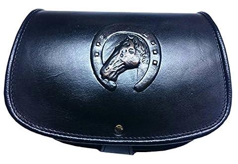 Ohara Cuir faite à la main moulée Sac à main Unique Cheval fer à cheval Lucky Motif cuir véritable