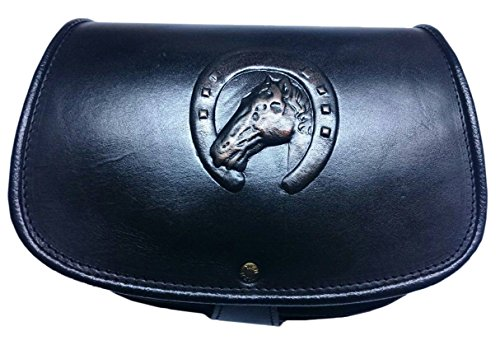 kōson Leder Handgefertigte Handtasche einzigartige Pferde Hufeisen Lucky Design aus echtem Leder (Hobo Handtasche Logo)