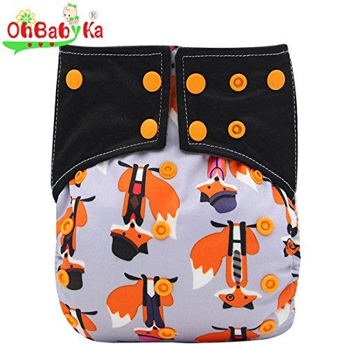 Ohbabyka Aio Eingenähte Stoffwindeln für Babys, wiederverwendbar, wasserdicht, Taschenwindel, Einheitsgröße, verstellbar - Naughty-pants
