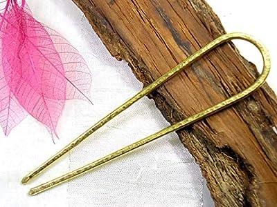 Hair Fork, Brass, Hair Accessory, Jewellery,