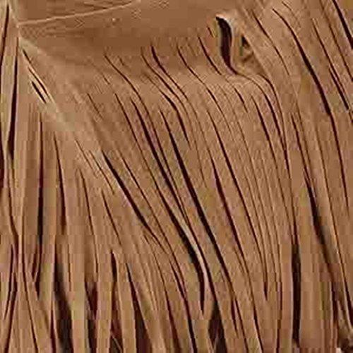 aimerfeel-womens pelle scamosciata del Faux fringe nappe borsa cross-corpo spalla sacchetto / benna, 3 colori Marrone