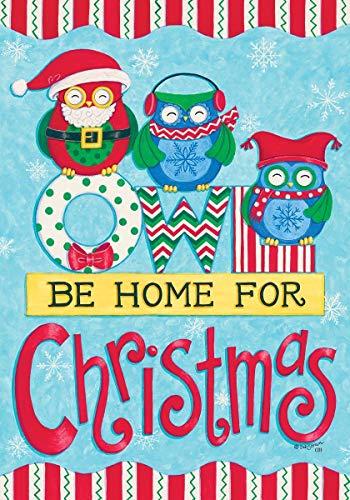 COCOBE Quot; Eule Werden Home für Quot; Weihnachten-Winter Mottoparty-Doppelseitig Garten Größe 30,5x 45,7cm-Deko Flagge (Winter Eule Garten Flag)