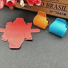 Wokee - Plantillas de metal para troquelar, diseño de corazón con flores, para manualidades, álbum de recortes, tarjeta de papel, acero al carbono, Multicolor B, Free