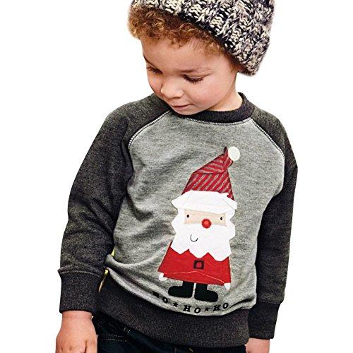 Kolylong® Christmas Baby Weihnachten Pullover baby Weihnachtsmann-Muster Sweatshirt-Mantel-Oberseiten (Weihnachtsmann Ziel Kostüm)
