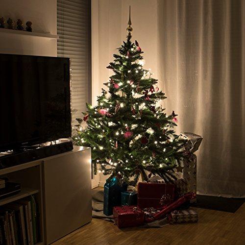 Weihnachtsbeleuchtung Tannenbaum Innen.Snowera 200er Led Lichterkette Weihnachtsbeleuchtung Für Innen Und Außen Mit Zuschaltbarem Timer Perfekt Für Den Weihnachtsbaum Tannenbaum